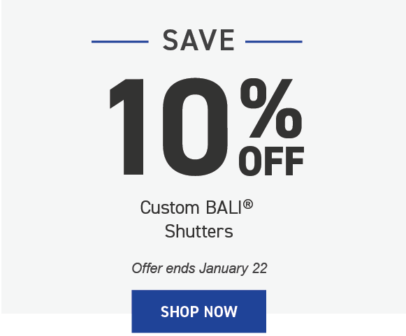 Save 10% on Bali Shutters