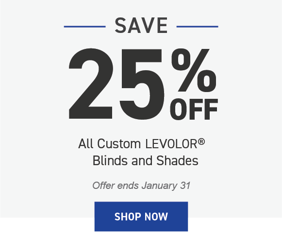 Save 25% on Levolor Blinds and Shades
