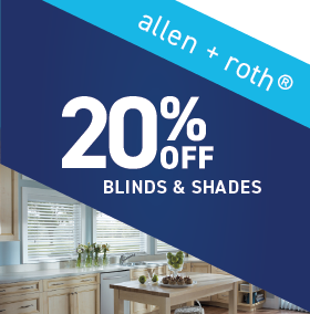 20% OFF allen+roth Blinds and Shades