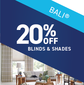 20% OFF Bali Blinds and Shades