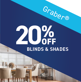 20% OFF Graber Blinds and Shades
