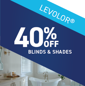 40% OFF Levolor Blinds and Shades