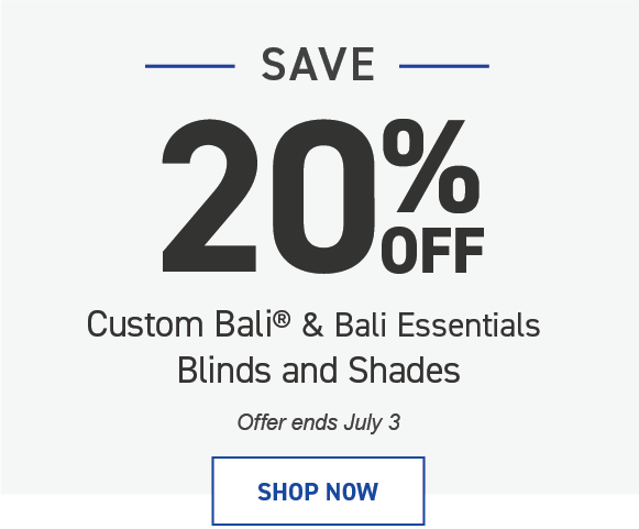 Save 20% on Bali Blinds and Shades
