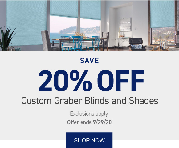 Save 20% on Graber Blinds and Shades